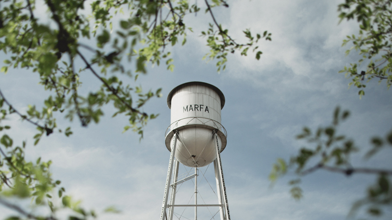 HOTEL SAINT GEORGE Marfa Water Tower - by Trey Dillon