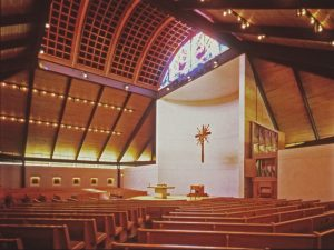 St. Cecelia Catholic Church in Houston (1978) was the first in a long series of houses of worship that Tapley designed. Photo by Richard Payne, FAIA.