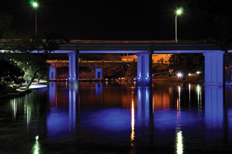 Bridge uplighting
