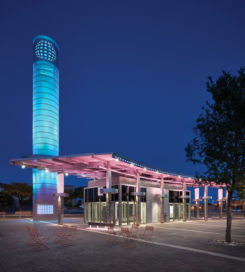 VIA Centro Plaza_Ext Tower Dusk_Copyright Dror Baldinger