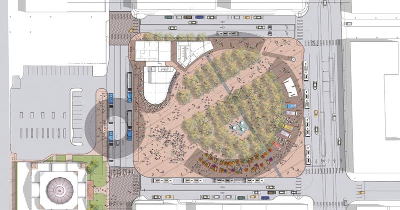 VIA Centro Plaza_Plan Site Open_Copyright Perkins Eastman