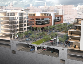 Vision for Downtown Austin Buries I-35 and Caps It with a Boulevard