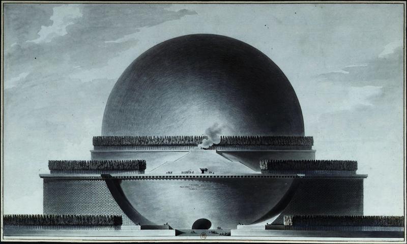 Étienne-Louis_Boullée,_Cénotaphe_de_Newton_-_03_-_Élévation_géométrale