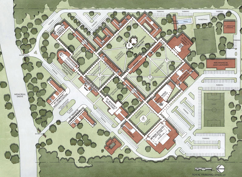 Seminary in Texas masterplan, credit Duncan G. Stroik Architect