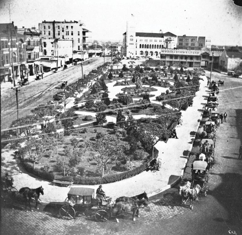 Alamo Plaza, c1890