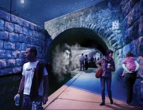 Studio Awards: Face the Mist, Waller Creek,  7th Street Bridge, Austin
