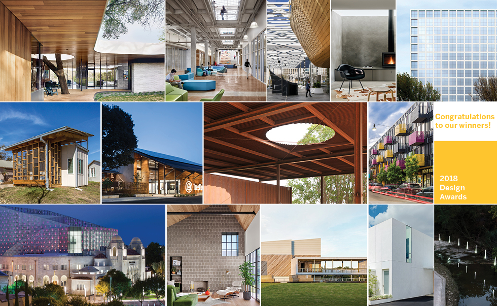 We Are Pleased To Announce The Winners Of The Texas Society Of Architects  2018 Design Awards Competition. Jurors Anne Schopf, FAIA, Mehrdad Yazdani,  AIA, ...