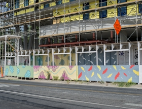 Construction Walkway as Canvas
