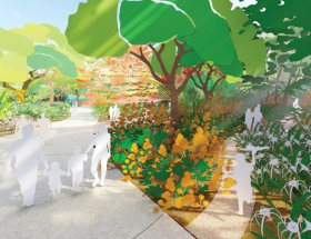 West 8's Houston Botanic Garden Renderings