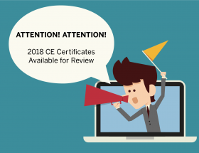 Convention CE Certificates Available for Review