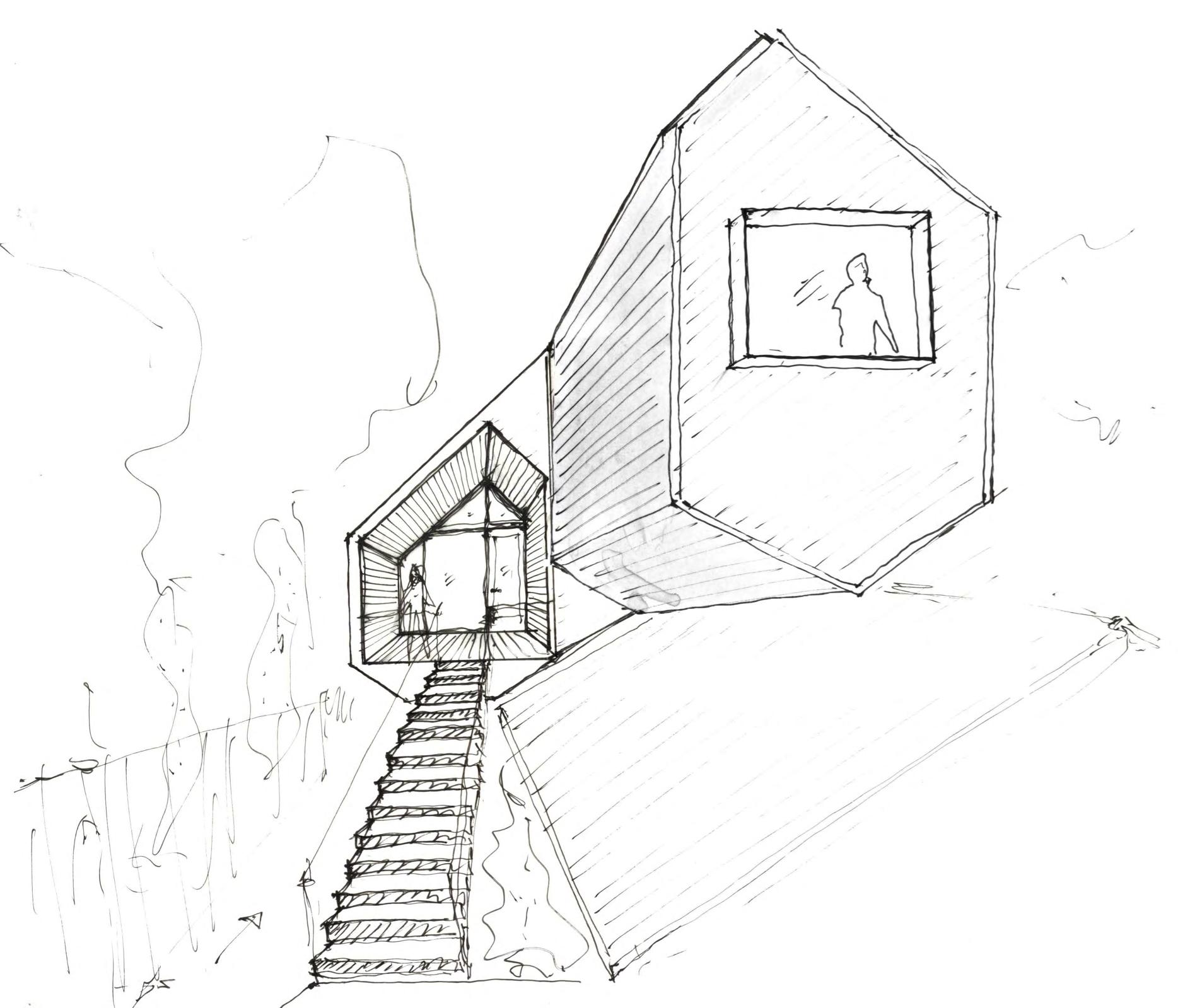 The Perch schematic design meeting sketch