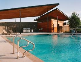 Leonid Furmansky's Film Photograph of LA-N-D's 51 East Pool Pavilion