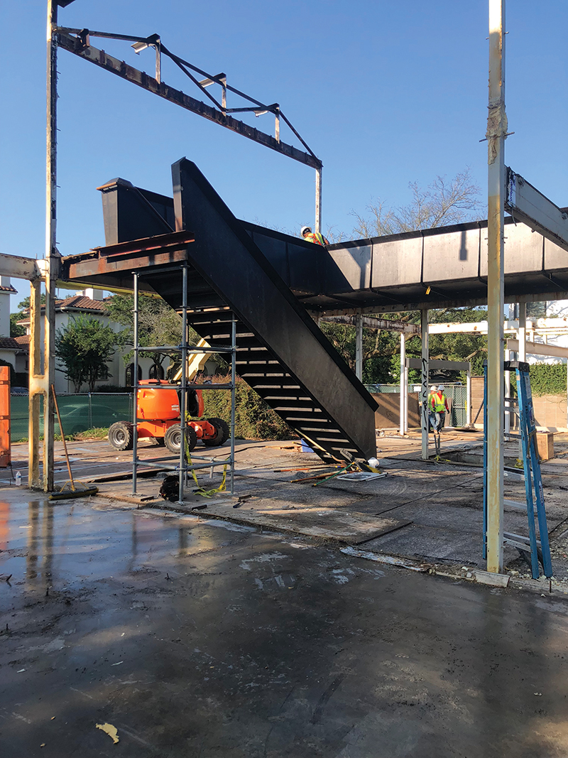 Meadowlake - Mark - Building taken down to the steel frame elements