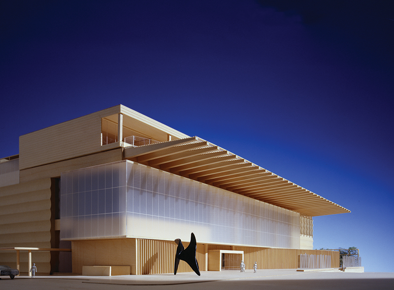 (Model; NE corner)Austin Museum of ArtGluckman Mayner Architects
