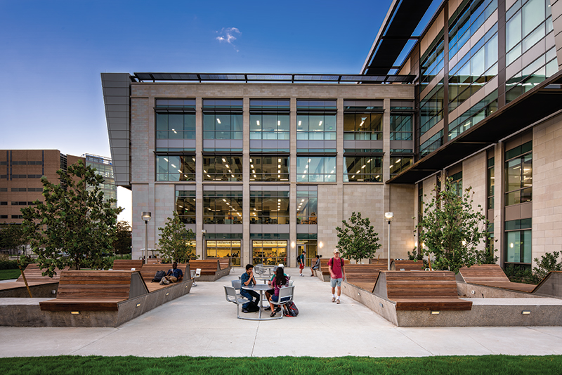 TAMU Zachry Engineering Education Complex Exterior (South) view