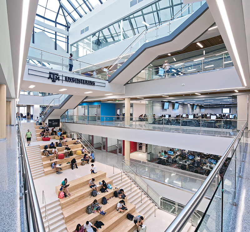 TAMU Zachry Engineering Education Complex central atrium/skyligh