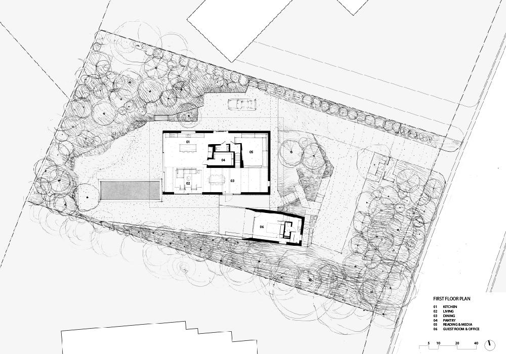 Resized BalconesHouse_first floor plan keyed