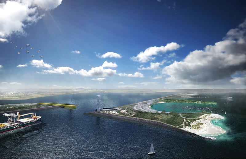 Rogers Partners_Galveston Bay Park - Main Gate View