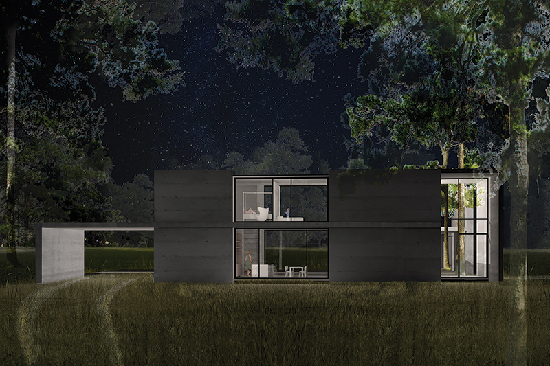 Spec_House_Front_Night