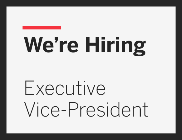 Executive Vice-President Call for Applicants