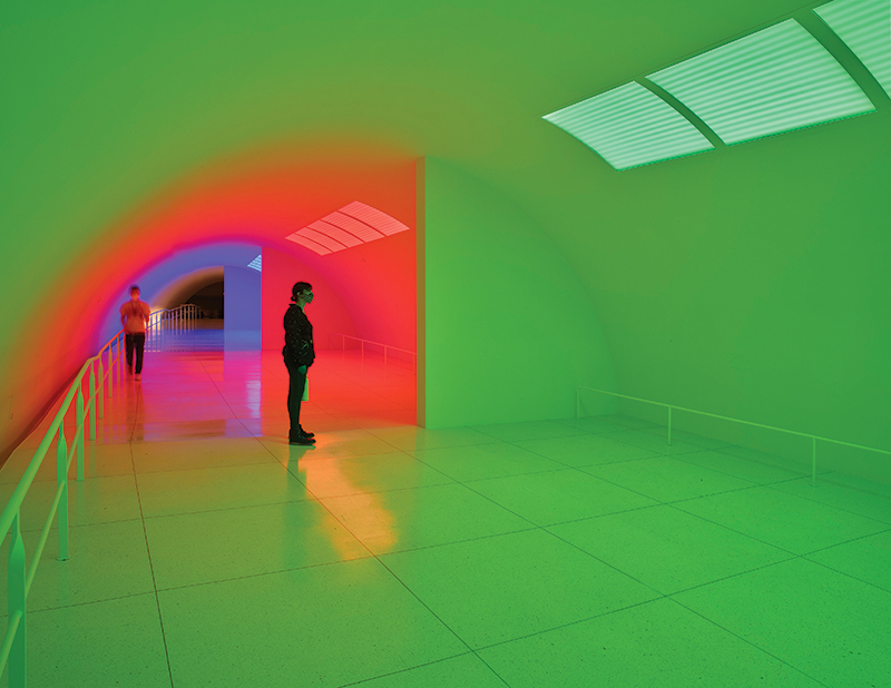 17. Installation view of Carlos Cruz-Diez's Cromosaturación MFAH, Paris 1965 Houston 2017