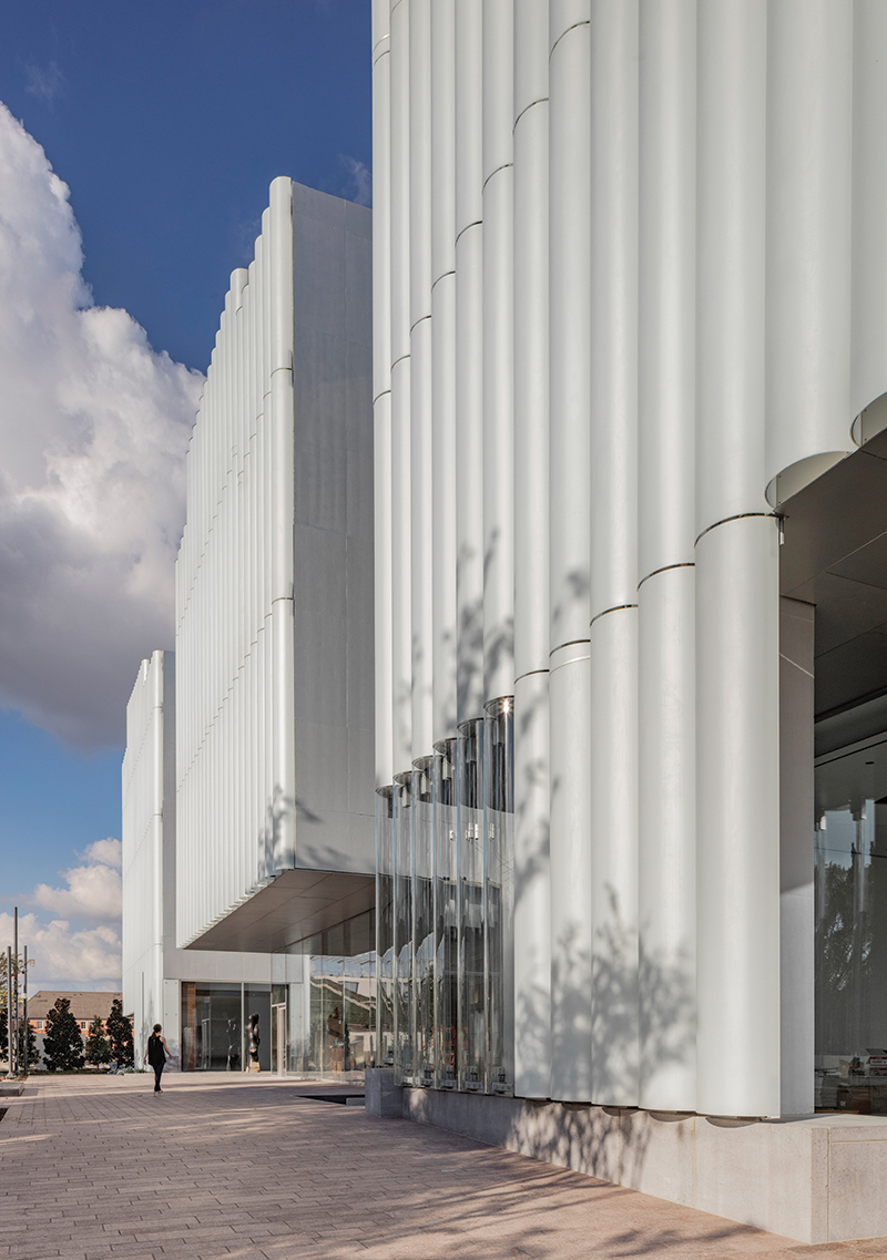 4. The Nancy and Rich Kinder Building at the Museum of Fine Arts, Houston, west facade.