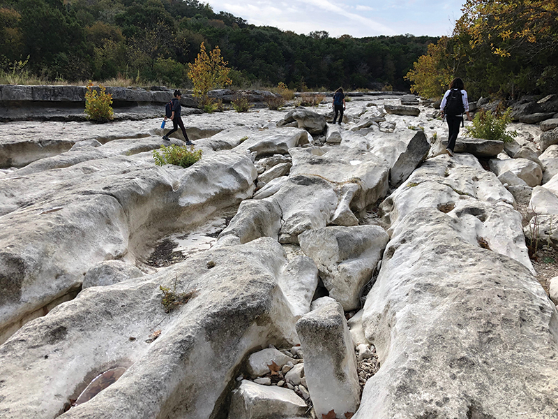 Barton dry creek bed