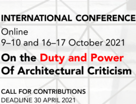 Call for Contributions: International Conference on Architectural Criticism
