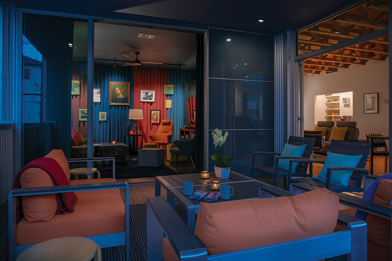 Rose 2 salon from lounge at dusk_Benjamin Hill