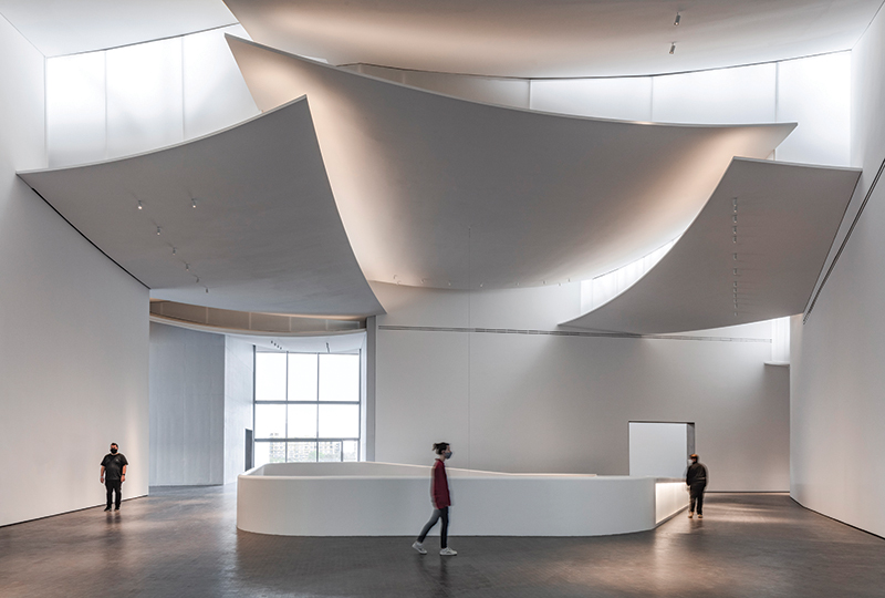 The Nancy and Rich Kinder Building at the Museum of Fine Arts, Houston, third-floor atrium.